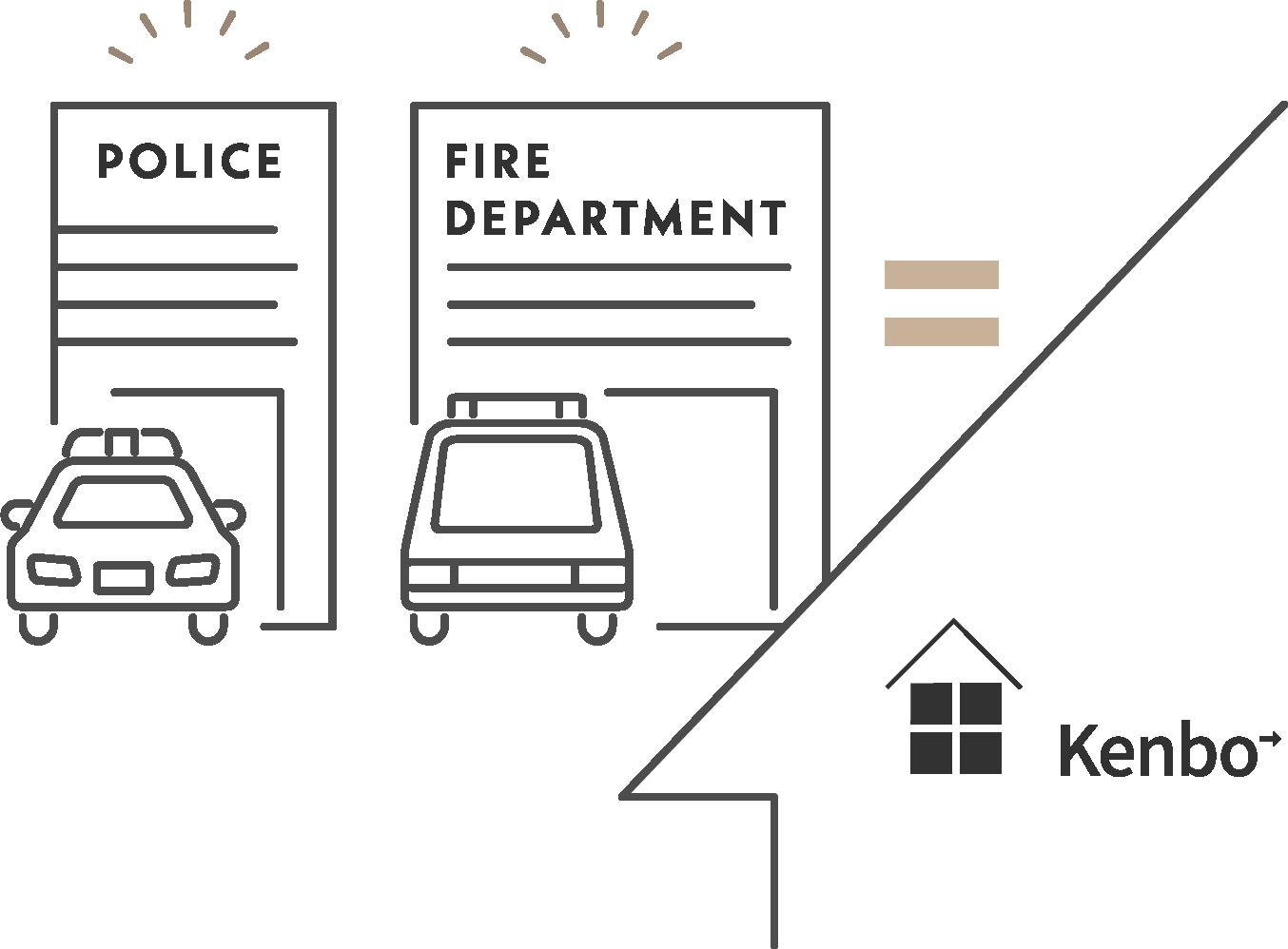 警察署や消防署などと同等レベルの耐震性。